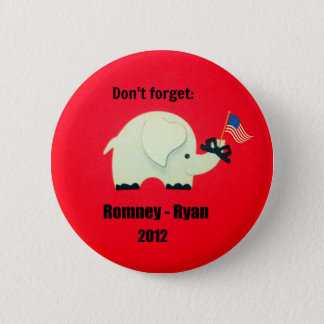 Don't forget: Romney - Ryan 2012 Button