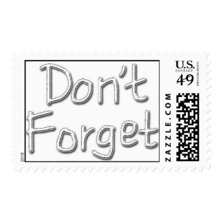 Dont Forget Stamp