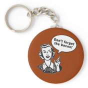 Don't Forget the Bacon! Fun Bacon Design Keychains