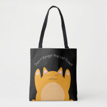 Don't forget the cat food shopping tote