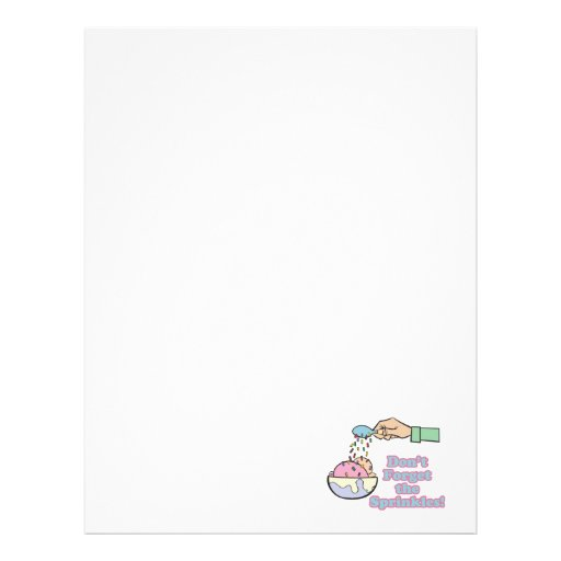 dont forget the sprinkles customized letterhead