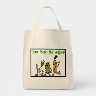 Don't Forget The Veggies Grocery Tote Bag