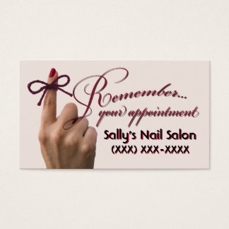 """don't forget to..."" appointment cards"