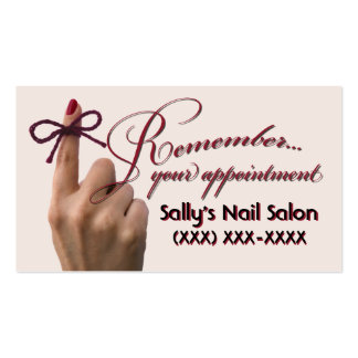 """""""don't forget to..."""" appointment cards Double-Sided standard business cards (Pack of 100)"""