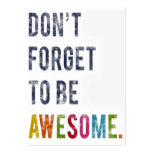 Don't Forget To Be Awesome Card Large Business Cards (Pack Of 100)