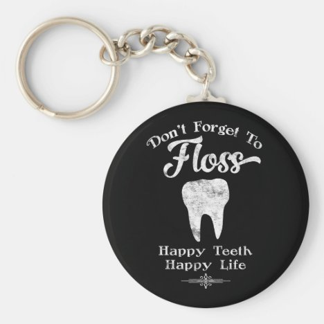 Don't Forget To Floss Chalkboard Keychain