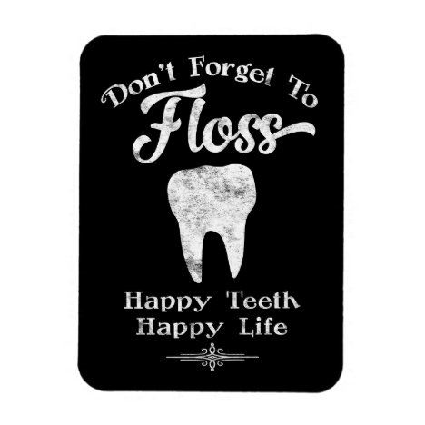 Don't Forget To Floss Chalkboard Magnet