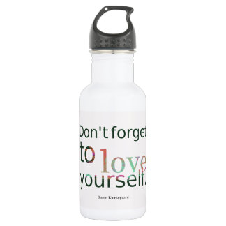Dont-forget-to-love-yourself.-__quotes-by-Soren-Ki Water Bottle