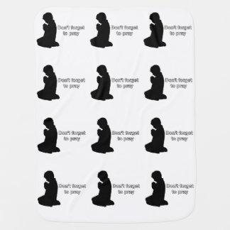 Don't Forget to Pray (Praying Child) Baby Blanket