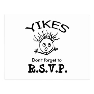 Don't forget to, R.S.V.P. Postcard