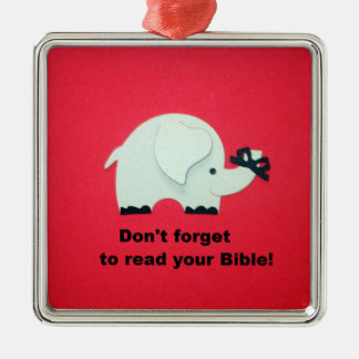Don't forget to read your Bible! Metal Ornament