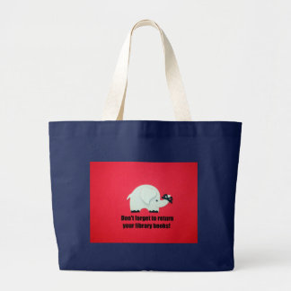 Don't forget to return your library books! large tote bag