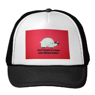 Don't forget to return your library books! trucker hat