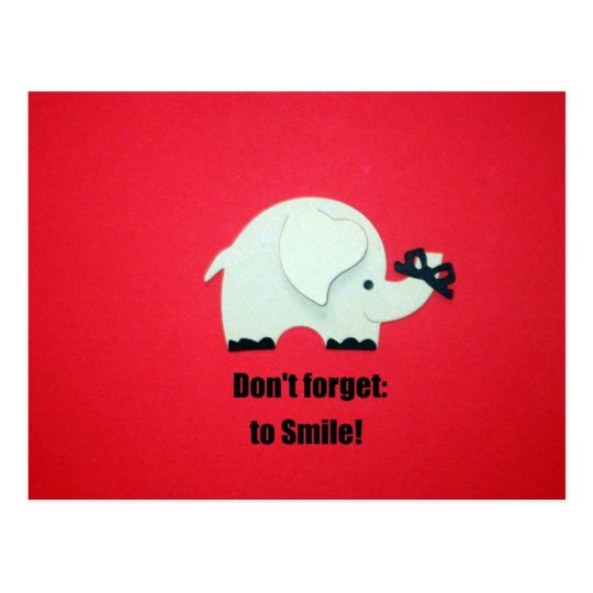 Don't forget to Smile! Postcard