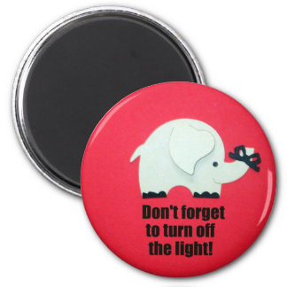 Don't forget to turn off the light! magnet