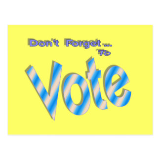 Don't Forget to Vote Postcard