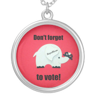 Don't forget to vote...Republican! Round Pendant Necklace
