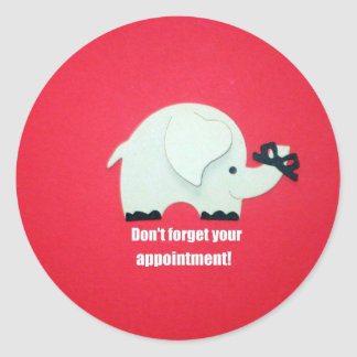 Don't forget your appointment! classic round sticker