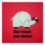 Don't forget your chores! poster