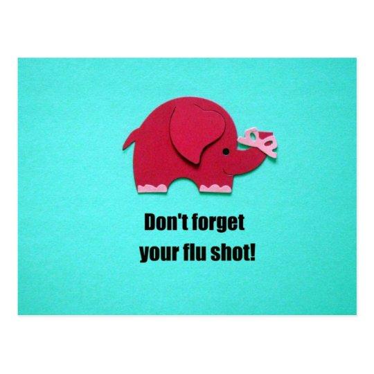 Don't forget your flu shot! postcard