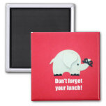 Don't forget your lunch! 2 inch square magnet