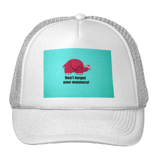Don't forget your manners! trucker hat