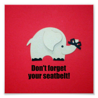 Don't forget your seatbelt! poster