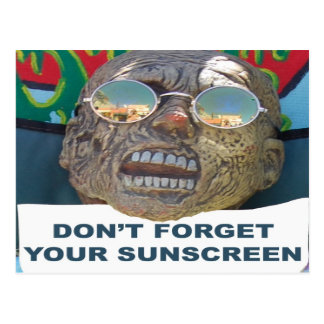 Don't Forget Your Sunscreen Postcard