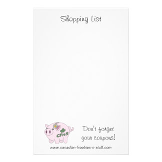Don't forgetyour coupons! Notepad Stationery