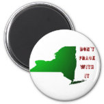 Don't Frack With New York 2 Inch Round Magnet