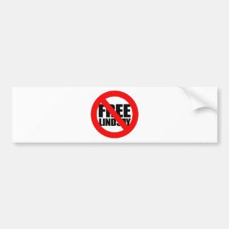 Don't Free Lindsay Car Bumper Sticker