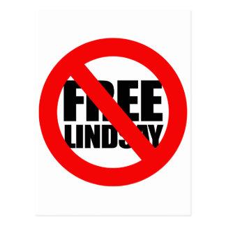 Don't Free Lindsay Postcard