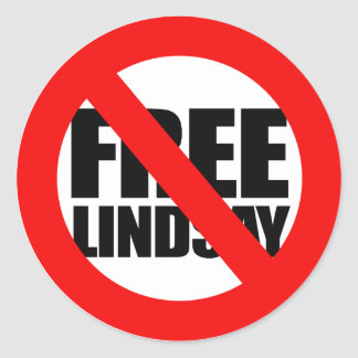 Don't Free Lindsay Classic Round Sticker