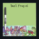 """&quot;Don&#39;t Frog-et&quot; Froggy Reading Dry-Erase Board<br><div class=""""desc"""">Don&#39;t Frog-et! you won&#39;t with this great reminder froggy reading dry erase board,  remeber all your &quot;to dos&quot; and &quot;groceries&quot;    Art Copyright to Erin Cooper</div>"""
