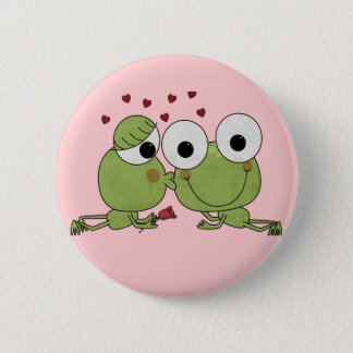 Don't Frog-et the Kiss Valentine Gifts Pinback Button
