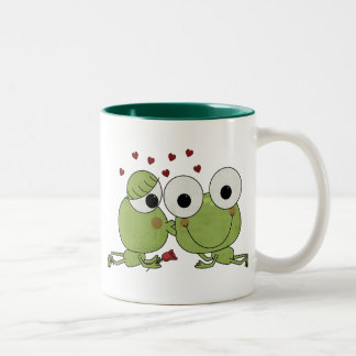 Don't Frog-et the Kiss Valentine Gifts Two-Tone Coffee Mug
