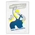 Don't Gamble Syphilis 1940 WPA Card