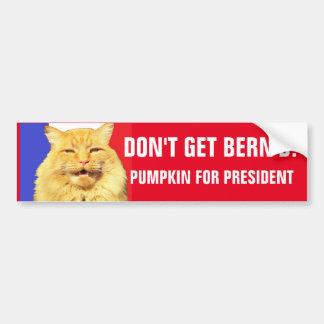Don't Get Bern'd RWB Pumpkin for President Bumper Sticker