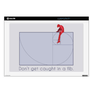 Don't get caught in a fib decal for laptop