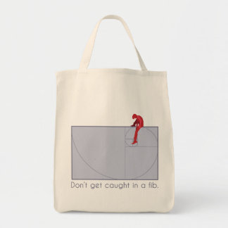 Don't get caught in a fib tote bag