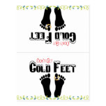 Don't Get Cold Feet Funny Socks Postcard