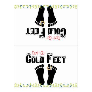 Don't Get Cold Feet Funny Socks Postcard