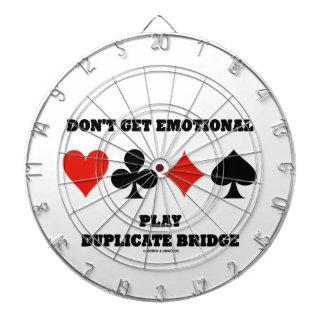 Don't Get Emotional Play Duplicate Bridge Dartboard