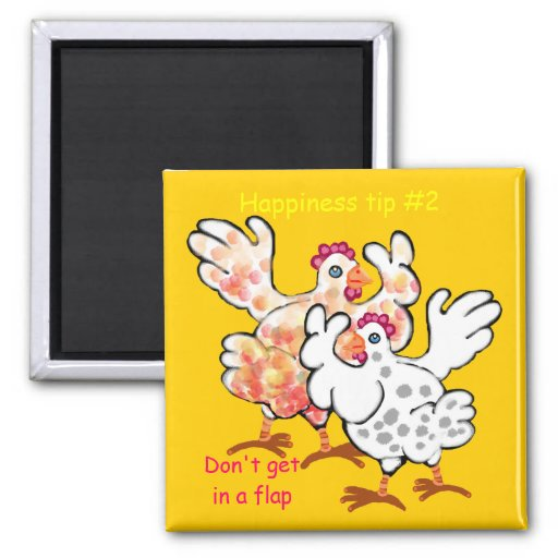 don't get in a flap refrigerator magnet