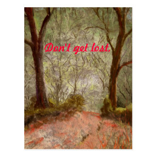 Don't get lost postcard