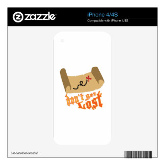 Dont Get Lost Decals For The iPhone 4S