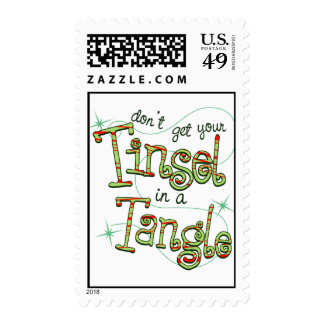 Don't get your Tinsel in a Tangle Holiday Stamp