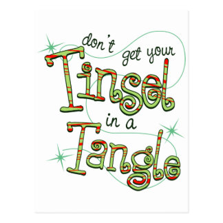 Dont get your tinsel in a tangle paper products postcard