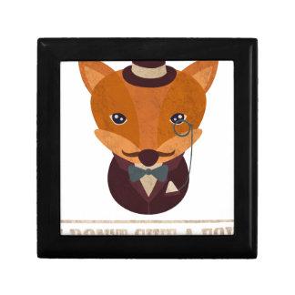 Dont Give A Fox Comic Animal Gift Box
