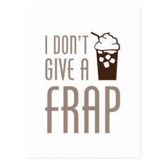 Don't Give A Frap Postcard